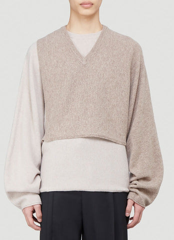 Maison Margiela Panelled Knitted Sweater
