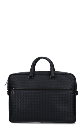 Bottega Veneta Woven Detail Briefcase