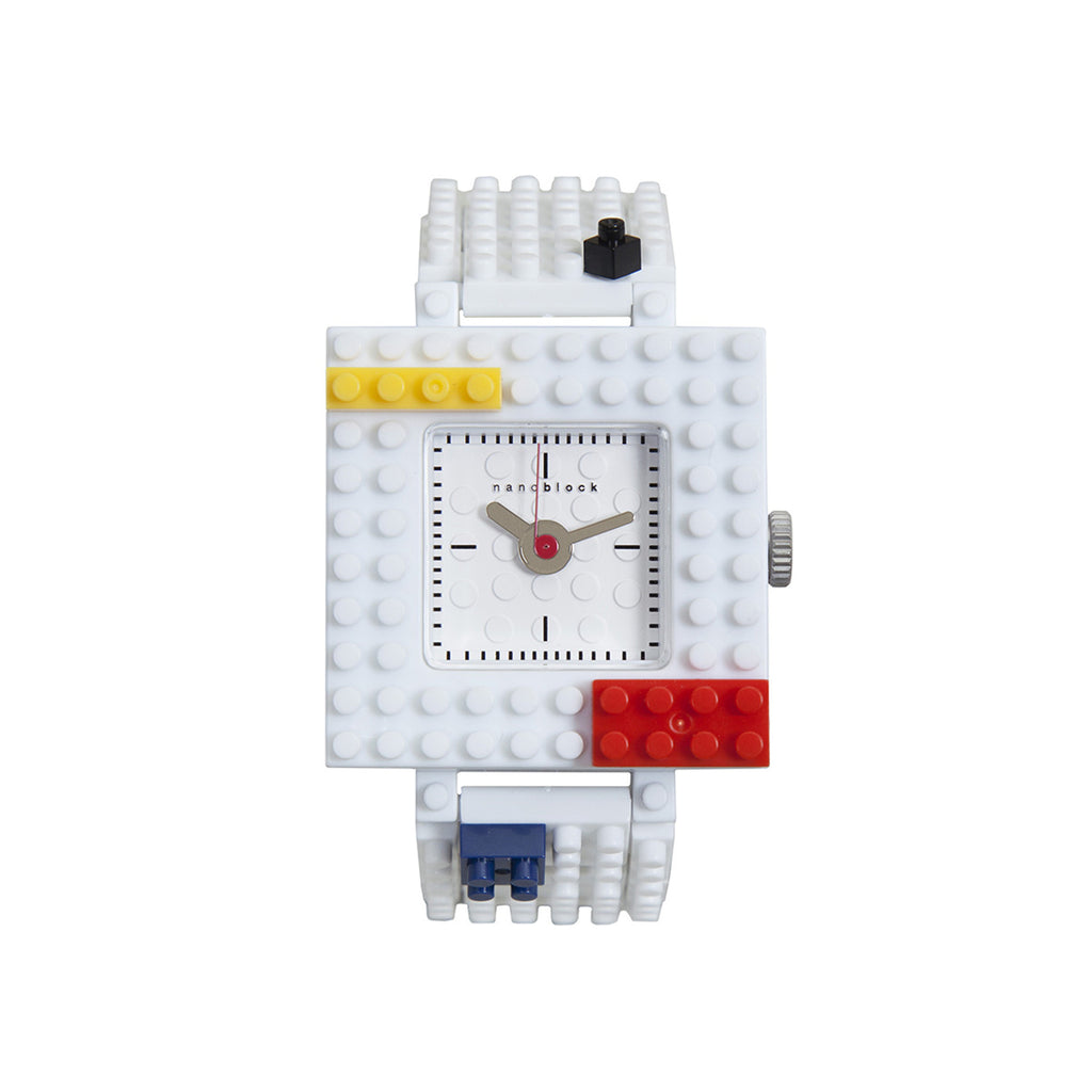 Nanoblocktime Nano Squared Watch - White