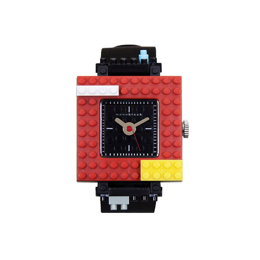 Nanoblocktime Nano Squared Watch - Red