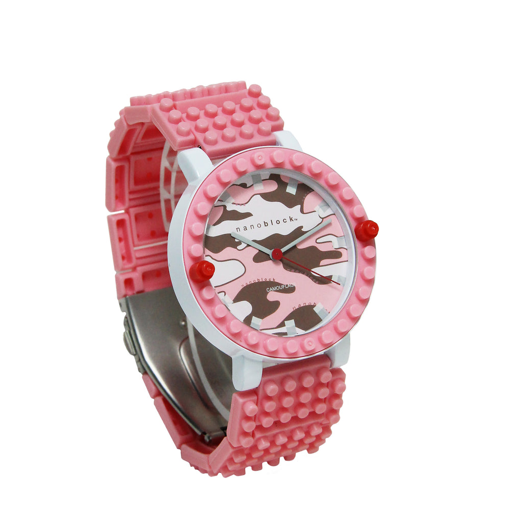 Nanoblocktime All Rounder Camo Watch - Pink