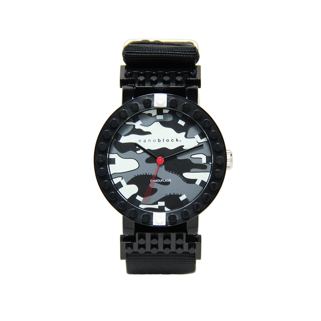 Nanoblocktime All Rounder Camo Watch - Black