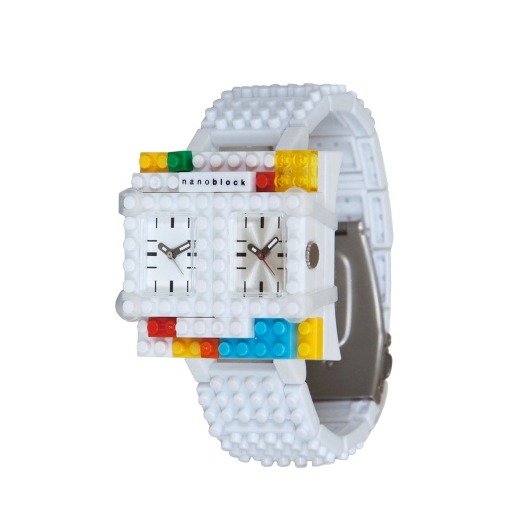 Nanoblocktime Traveler Watch - White