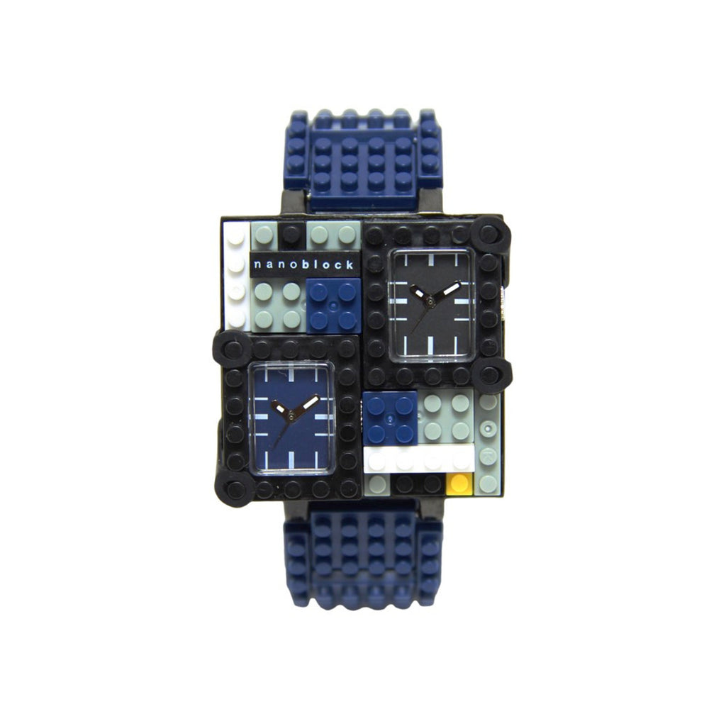 Nanoblocktime Traveler Metal Watch - Dark Blue