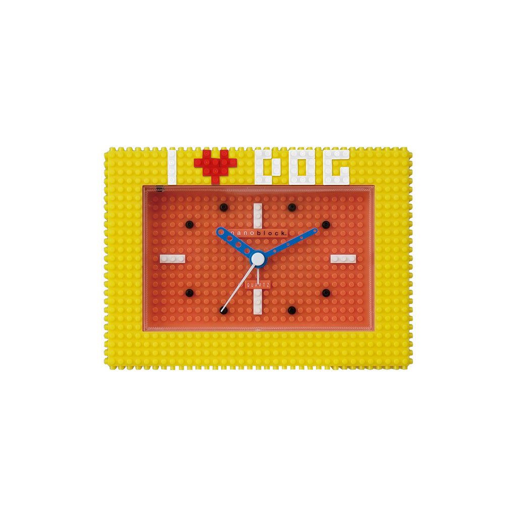Nanoblocktime Deco Alarm Clock - Yellow and Orange