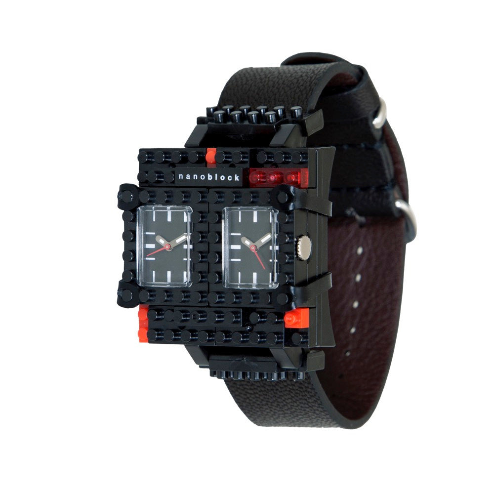 Nanoblocktime Traveler Watch - Black