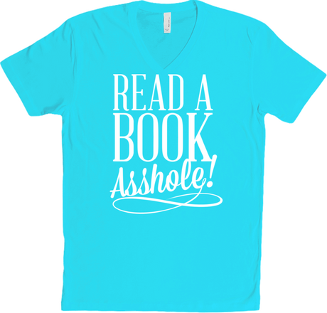 READ A BOOK V-NECK