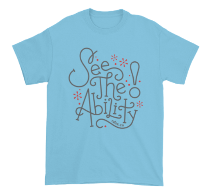 WDSD See The Ability - Adult Unisex - Light T-Shirt (From Printful)