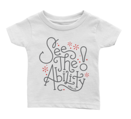 WDSD See The Ability - Baby T-Shirt - (From Printful)