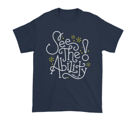 WDSD See The Ability - Adult Unisex - Dark T-Shirt (From Printful)