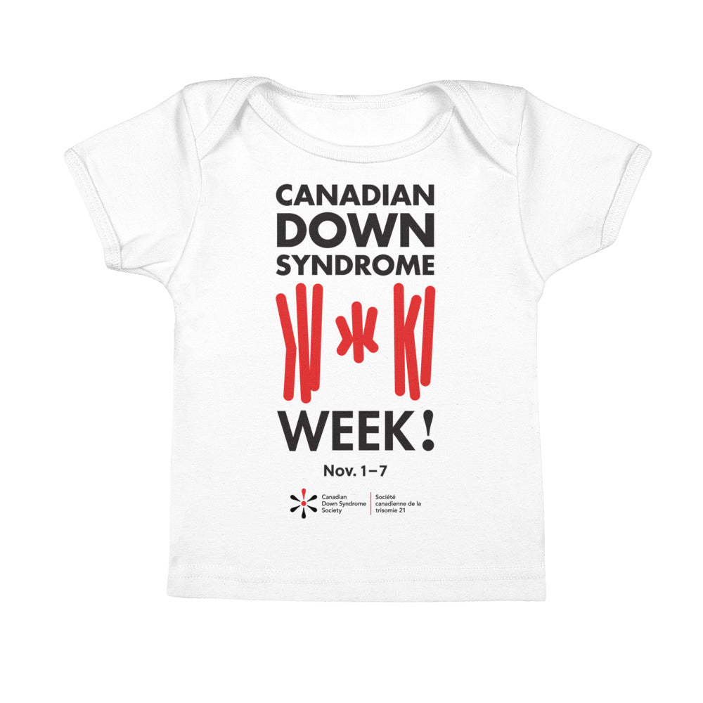 Canadian Down Syndrome Week - Baby - White T-Shirt (From Printful)