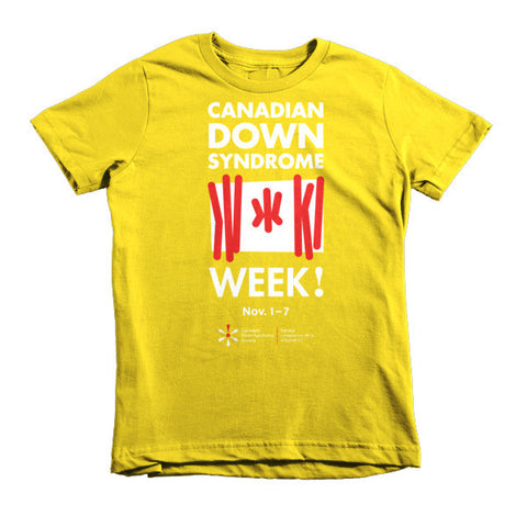 Canadian Down Syndrome Week - Youth - Colour T-Shirt (From Printful)
