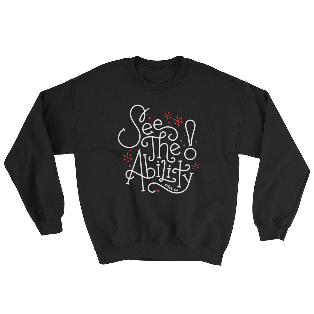 WDSD See The Ability - Adult Unisex Sweatshirt - (From Printful)