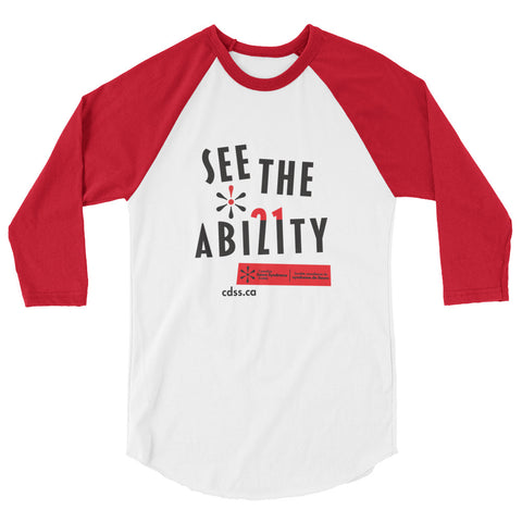 See The Ability - Adult Raglan (From Printful)