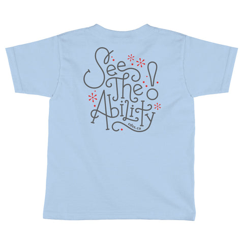 WDSD See The Ability - Toddler T-Shirt - (From Printful)