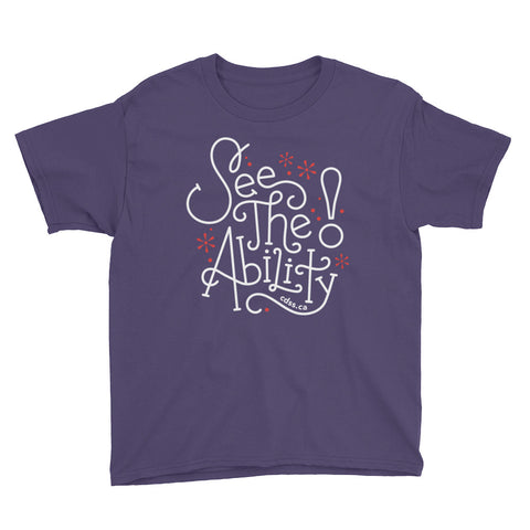 WDSD See The Ability - Child & Youth T-Shirt - (From Printful)