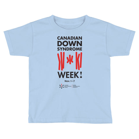 Canadian Down Syndrome Week - Toddler - Colour T-Shirt (From Printful)