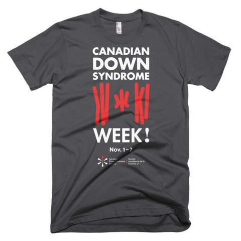 Canadian Down Syndrome Week - Adult Unisex - Dark T-Shirt (From Printful)