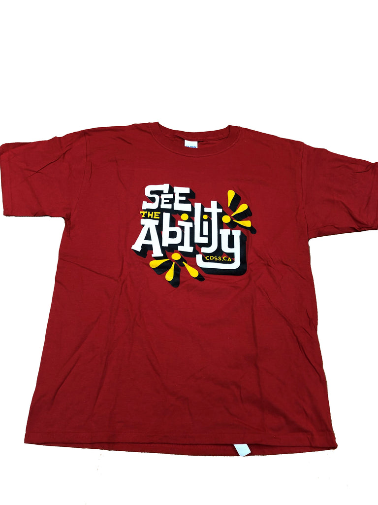 Canadian Down Syndrome Society See The Ability - Youth Red T-Shirt