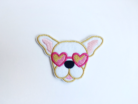 Seconds Frenchie Patch - White