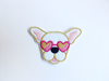 Frenchie Patch - White