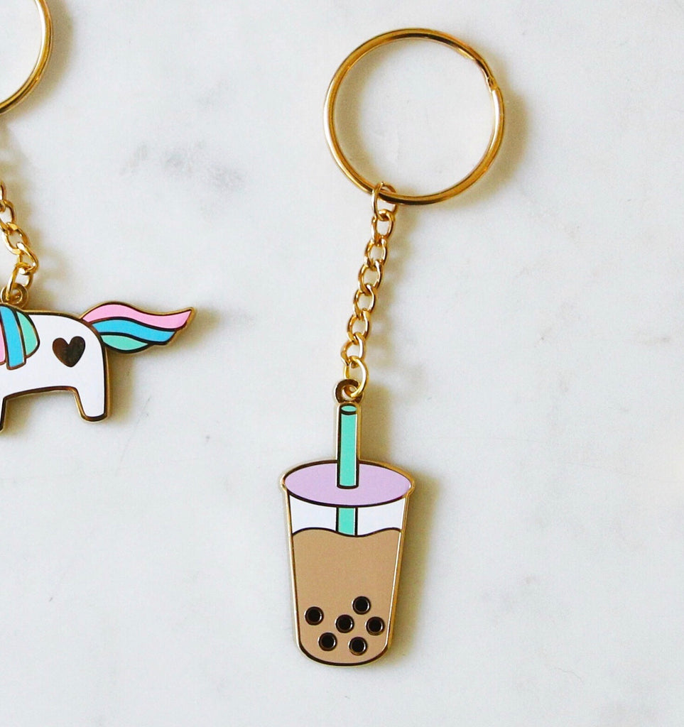 Boba Milk Tea Keychain