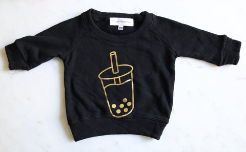 Boba Milk Tea Sweatshirt - Kids