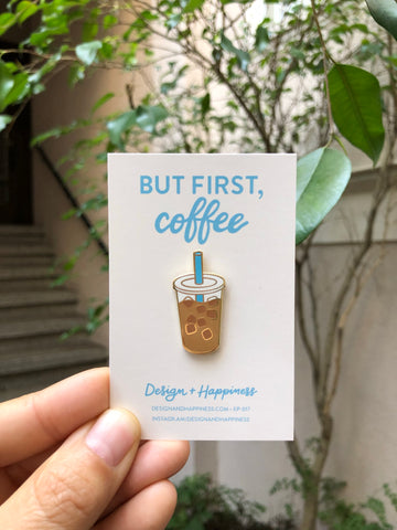 Iced Coffee Pin