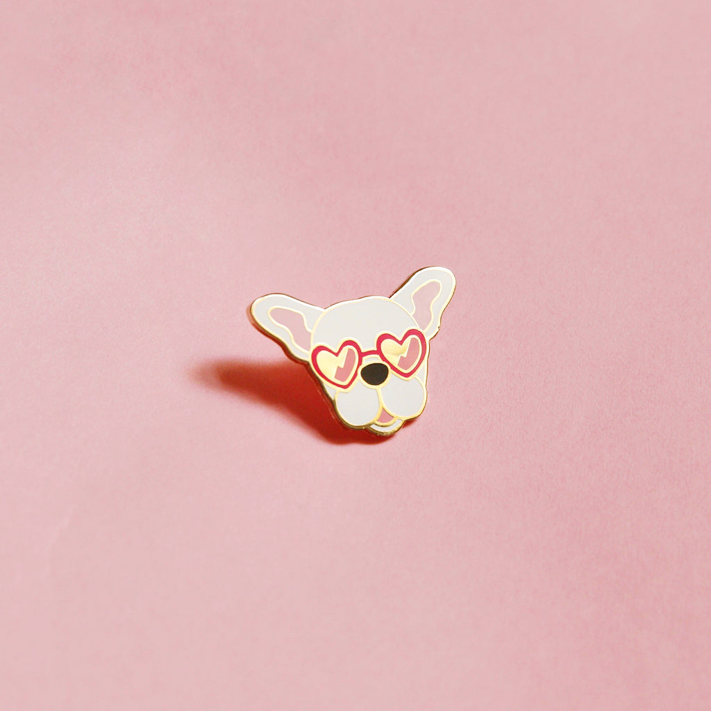 Frenchies Pin - White