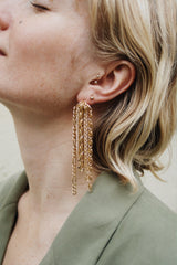 WHOLE LOTTA CHAIN SINGLE EARRING