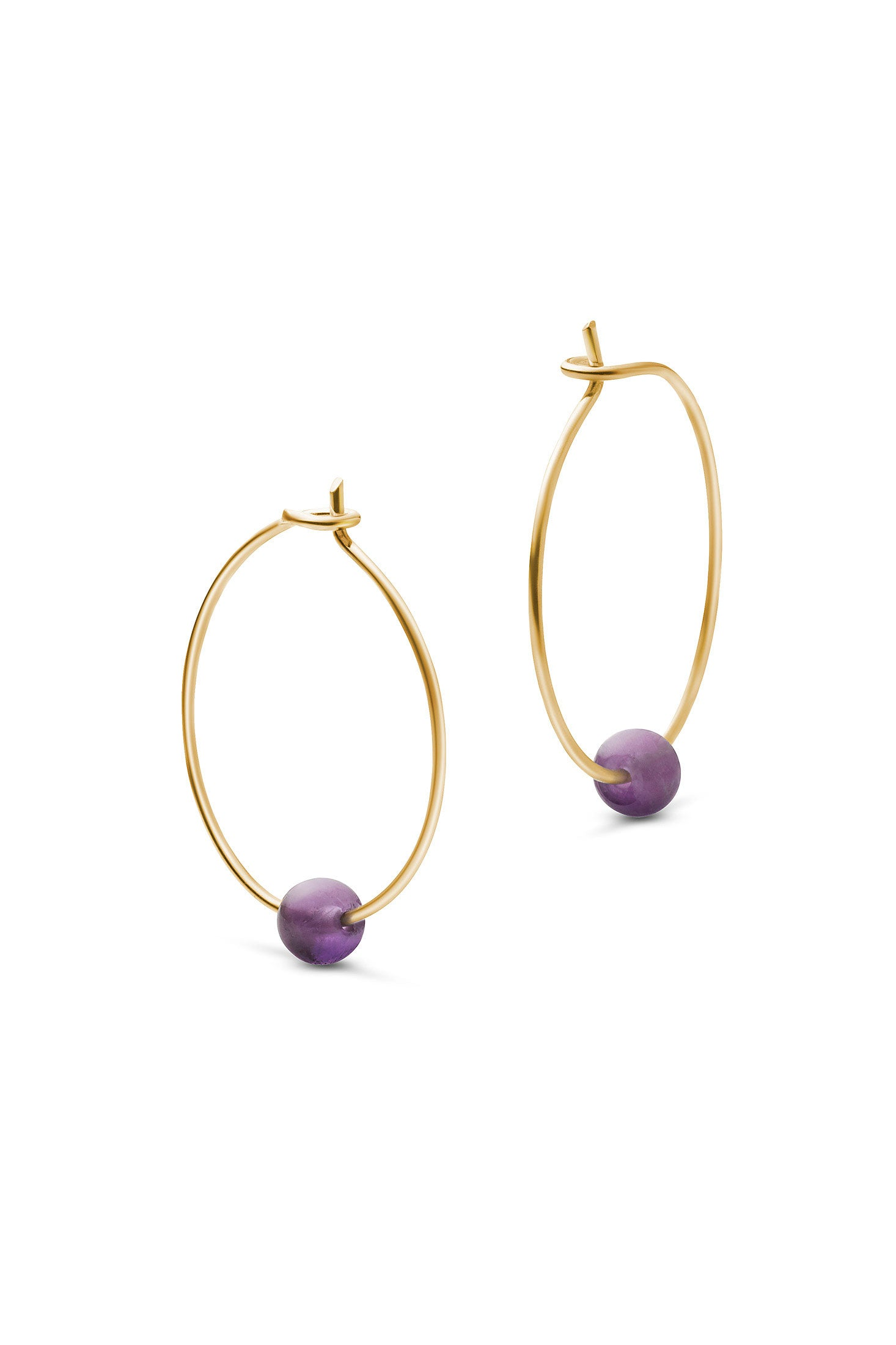 BIRTHSTONE HOOPS