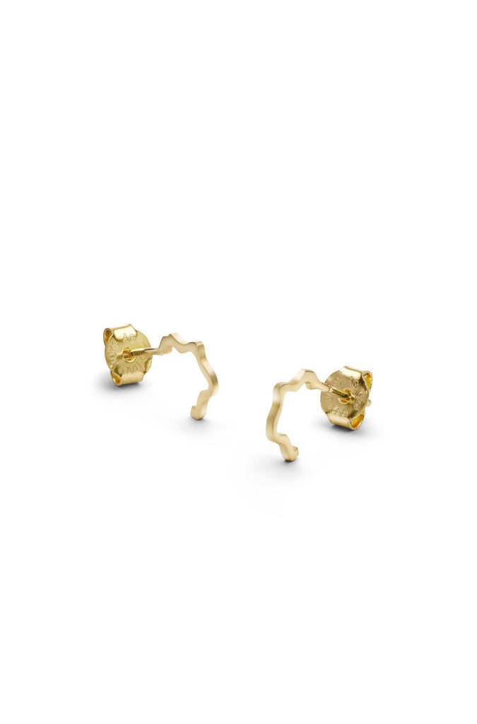 Golden earrings Jukserei Jewelry Berlin
