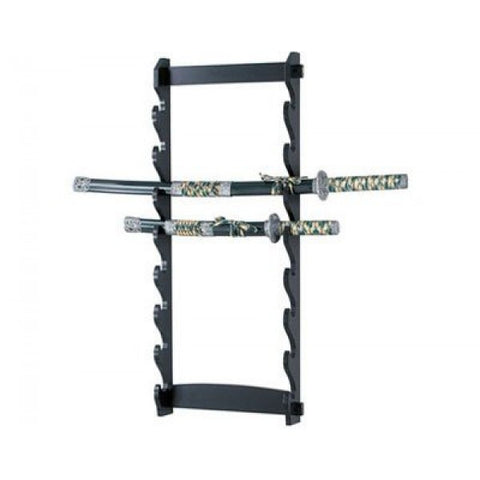 8-Tier Wall Sword Stand - The Prepper Supply