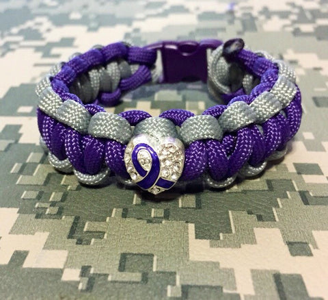Paracord - Lupus Awareness Heart Bracelet