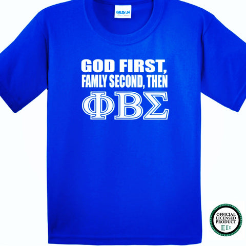 Greek - God First Family Second - Phi Beta Sigma Greek T-Shirt - 550strong