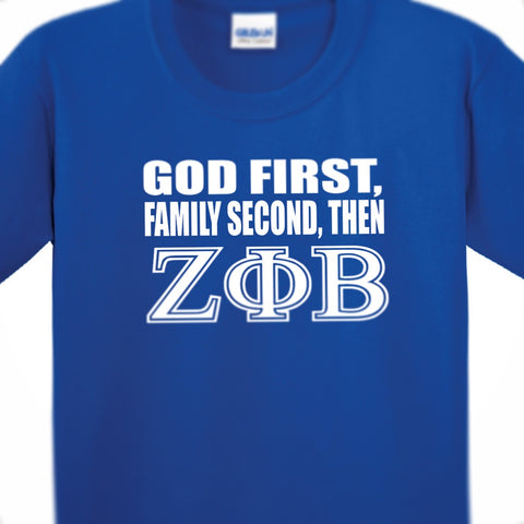 Greek - Zeta Phi Beta - God First, Family Second, Then ZPhiB - 550strong