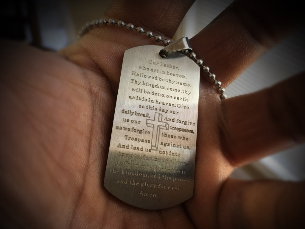Pendant - Our Fathers Prayers Dog Tag - 550strong