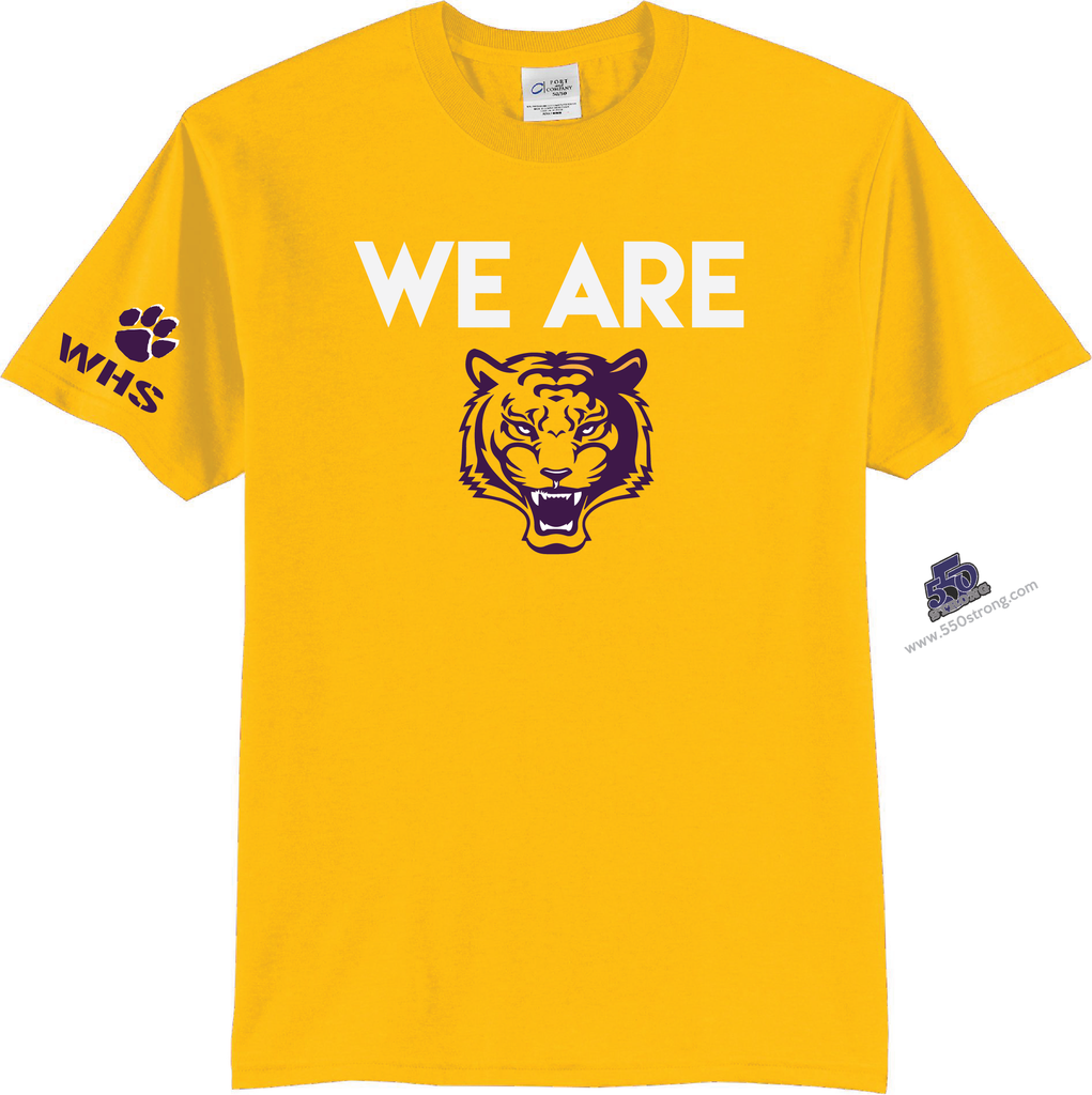 HS - We Are Wilson (Tigers) High School T-Shirt - Gold - 550strong