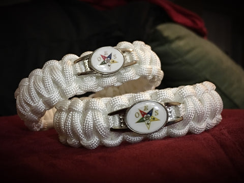 Paracord - Order Of The Eastern Star (OES) - White - 550strong