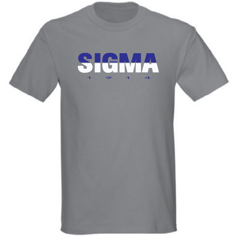 Greek - Phi Beta Sigma Greek 1914 T-Shirt - Sport Grey - 550strong