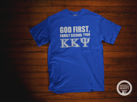 Greek - God First Family Second - Kappa Kappa Psi T-Shirt - 550strong