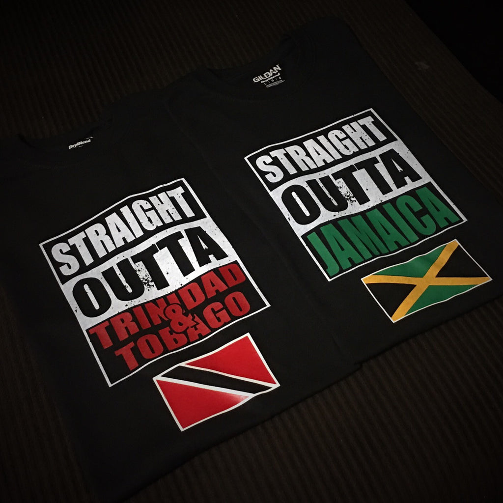 Straight Outta Jamaica / Trinidad - T-Shirt - 550strong