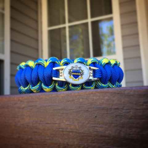 Paracord - Tau Beta Sigma (Blue, White, and Gold) - 550strong