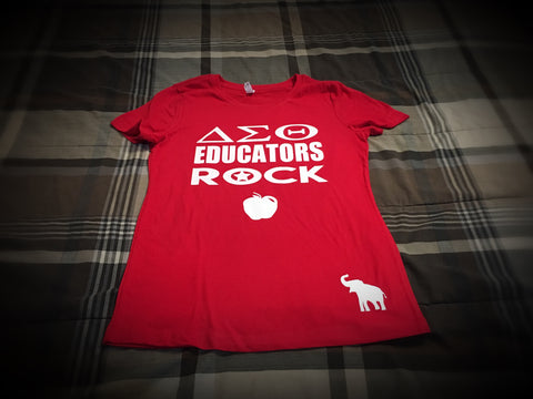 Greek - Delta Educators Rock T-Shirt - 550strong