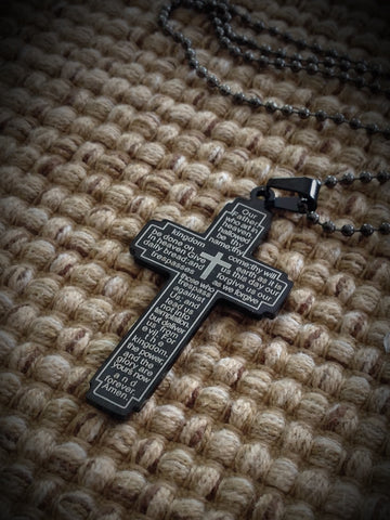 Pendant - Our Fathers Prayers Cross Dog Tag