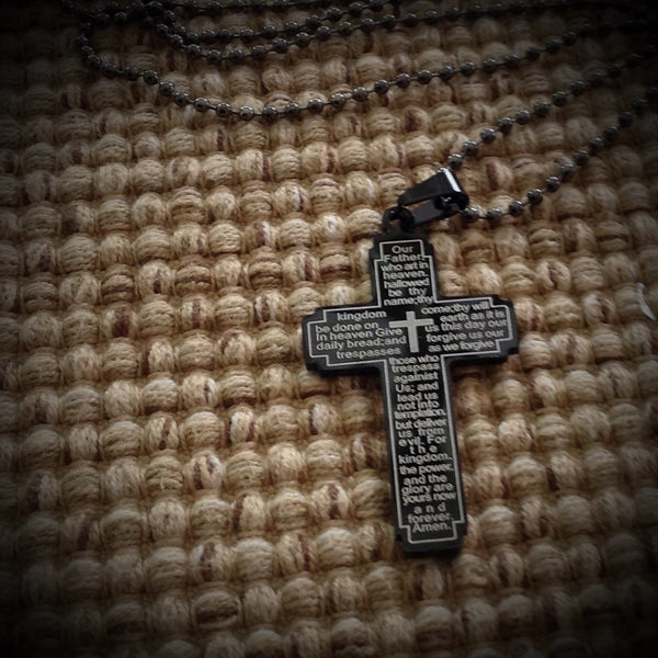 Pendant - Our Fathers Prayers Cross Dog Tag - 550strong