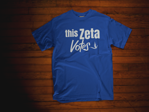 Greek - Zeta Phi Beta - This Zeta Votes Shirt - 550strong