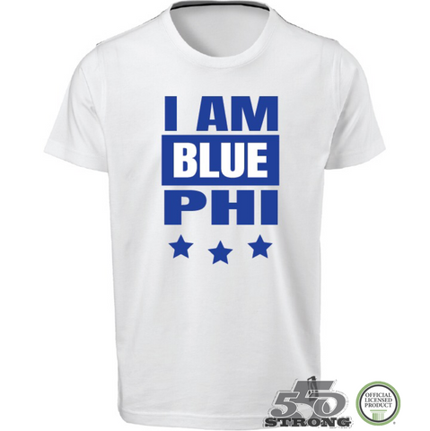 Greek - I AM BLUE PHI - G - Phi Beta Sigma Greek T-Shirt - 550strong