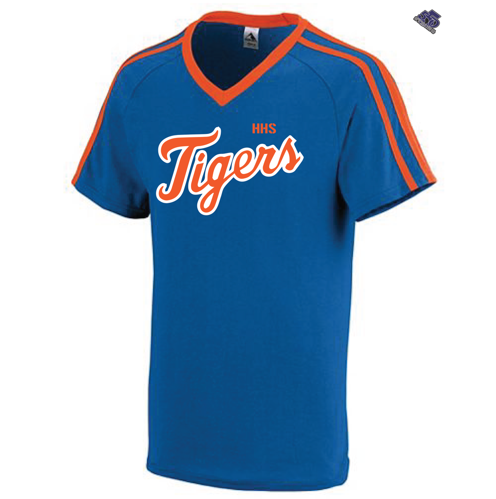 HS - Tigers High School V-Neck Stripe Jersey - 550strong