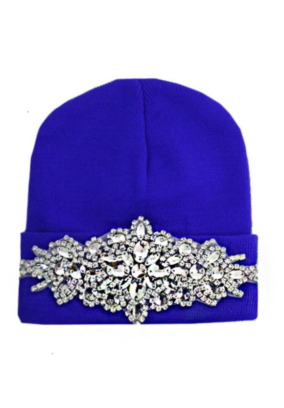 Miss Bling Jeweled Encrusted Beanie